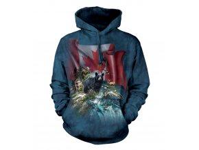 mikina, the Mountain, potisk, batikovaná, Kanada, medvěd