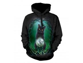 mikina, the Mountain, potisk, batikovaná, kočka, křišťálová koule