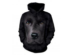 mikina, the Mountain, potisk, pes, 3d, černý labrador