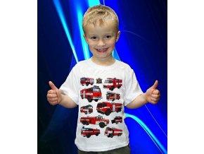tričko, dětské, pánské, potisk, auta, hasiči