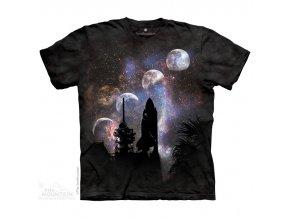 dětské tričko-raketoplán-vesmír-potisk-mountain-bavlna