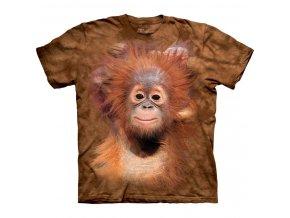 tričko, opička, orangutánek, potisk, mountain, dětské