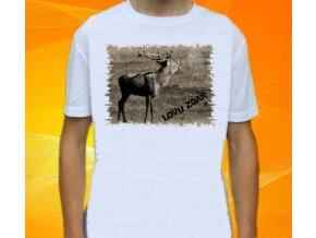 tričko, dětské, pánské, potisk, myslivec, jelen