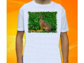 tričko, dětské, pánské, potisk, myslivec, zajíc