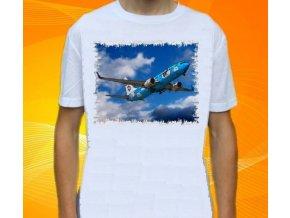 tričko, dětské, pánské, potisk, letadlo, Boeing