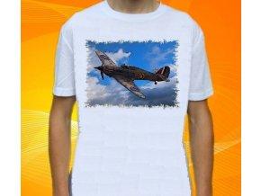 tričko, dětské, pánské, potisk, letadlo, stíhačka Hawker