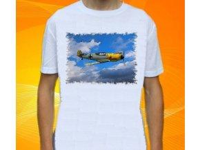 tričko, dětské, pánské, potisk, letadlo, stihačka Messerschmidt