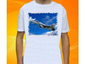 tričko, dětské, pánské, potisk, letadlo, stihačka Mig