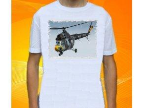 tričko, dětské, pánské, potisk, vrtulník, Mi-2