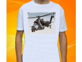 tričko, dětské, pánské, potisk, vrtulník, Mi-24V