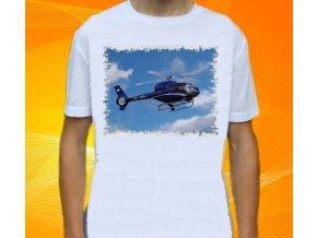 tričko, dětské, pánské, potisk, vrtulník, helikoptéra