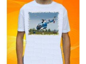 tričko, dětské, pánské, potisk, vrtulník