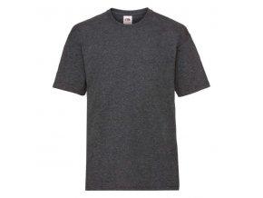 dětské, tričko, jednobarevné, bavlněné, tmavě šedé