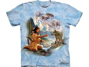 tričko-vlk-indiánské-batikované-potisk-squaw