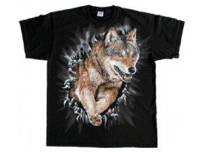tričko běžící vlk