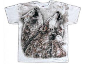 tričko bílí vlci