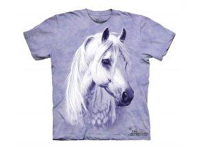 tričko-kůň-bělouš-potisk-batikované