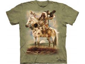 tričko-indiánské-náčelník-batikované-potisk-válečník
