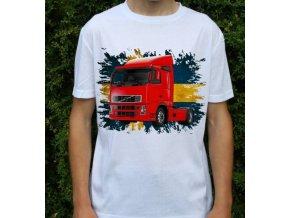 tricko-nakladni-auto-potisk-truck-volvo-fh420-cerveny