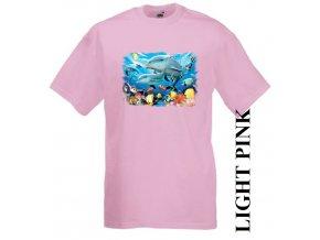 levné-dětské-tričko-růžové-UV_potisk-delfín