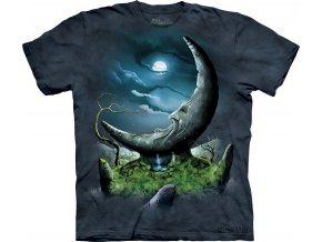 tričko, stonehenge, měsíc, potisk, batikované, keltské