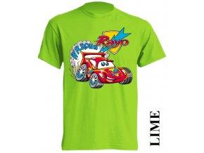 dětské-tričko-limetkové-potisk-auto