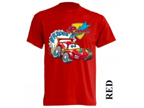 levné-dětské-tričko-červené-mcqueen