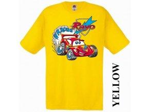 bavlněné-levné-dětské-tričko-žluté-auta