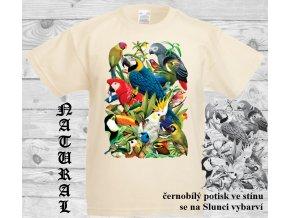 ptaci raj natural tričko menici potisk
