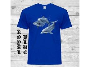 modre tricko delfini
