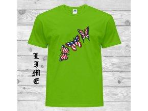 cerne tricko americky motyl