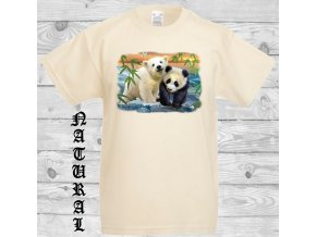 detske tricko natural panda medvidek