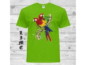 limetkove tricko par papousku