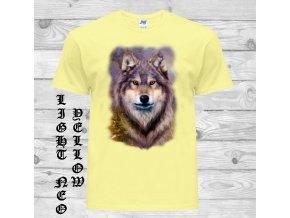 cerne tricko vlk samotar