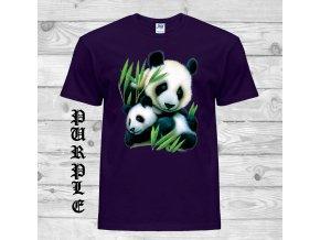 fialove tricko panda