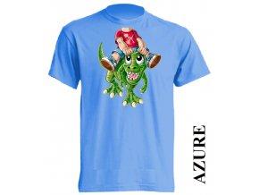 levné-dětské-tričko-azurově_modré-dinosaurus