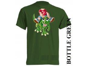 bavlněné-dětské_tričko_s_potiskem-tmavě_zelené-dinosaurus