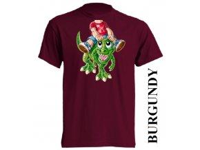 bavlněné-dětské-tričko-vínové-burgundy-dinosaurus