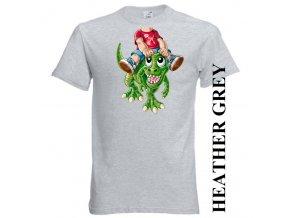 bavlněné-dětské-tričko-šedé-potisk-dinosaurus
