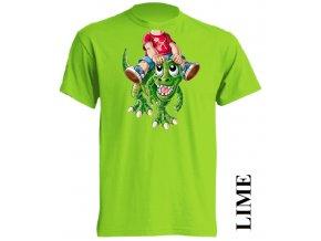 dětské-tričko-limetkové-potisk-dinosaurus