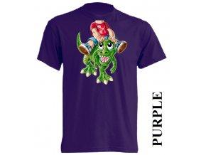 levné-dětské_tričko-fialové-dinosaurus_trex