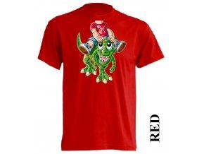 levné-dětské-tričko-červené-tyranosaurus