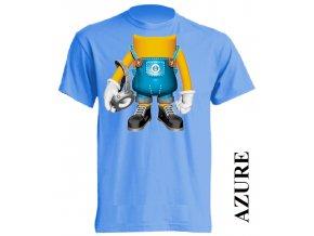 levné-dětské-tričko-azurově_modré-mimoň