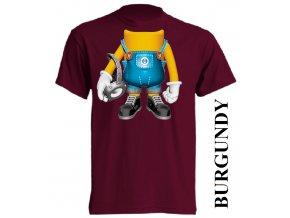 bavlněné-dětské-tričko-vínové-burgundy-mimoň