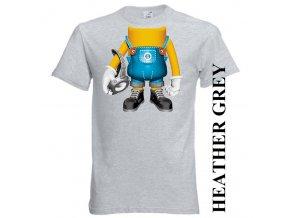 bavlněné-dětské-tričko-šedé-potisk-mimoň