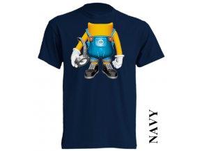 bavlněné-levné-dětské_tričko-tmavě_modré-potisk-minions