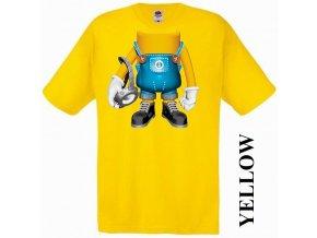 bavlněné-levné-dětské-tričko-žluté-mimoň