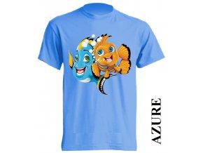 levné-dětské-tričko-azurově_modré-dory-nemo