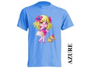 levné-dětské-tričko-azurově_modré-pejsek