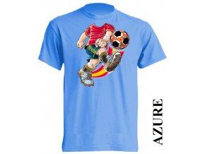 levné-dětské-tričko-azurově_modré-fotbalista